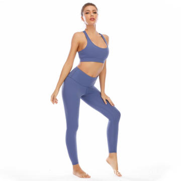 Two Piece Yoga Suit Top Leggings Sportswear